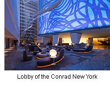 Lobby of the Conrad New York